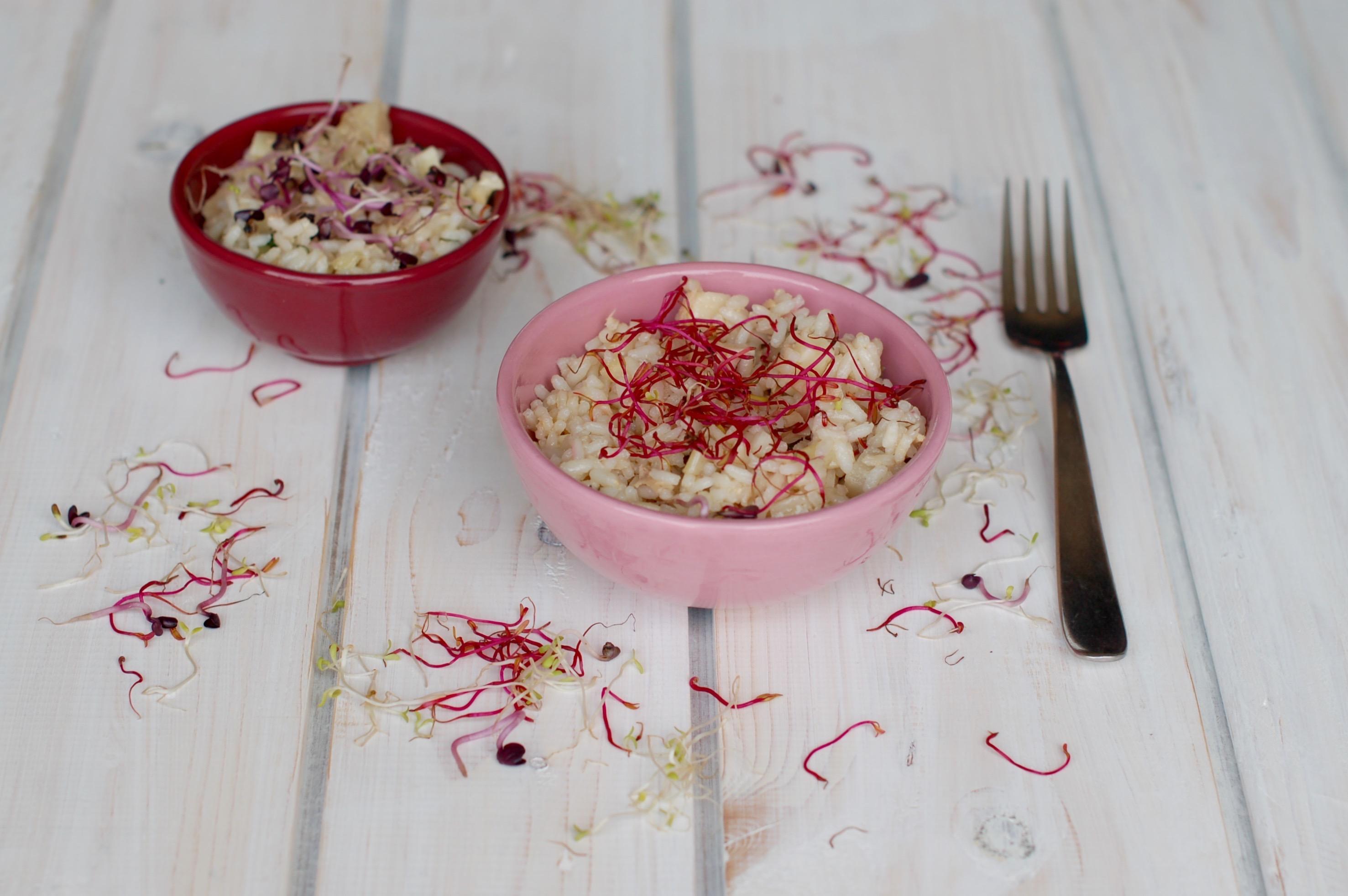 Insalata di riso con germogli Azuki rossi