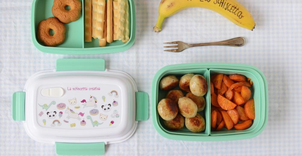 Schiscetta a scuola - Polpette e carotine